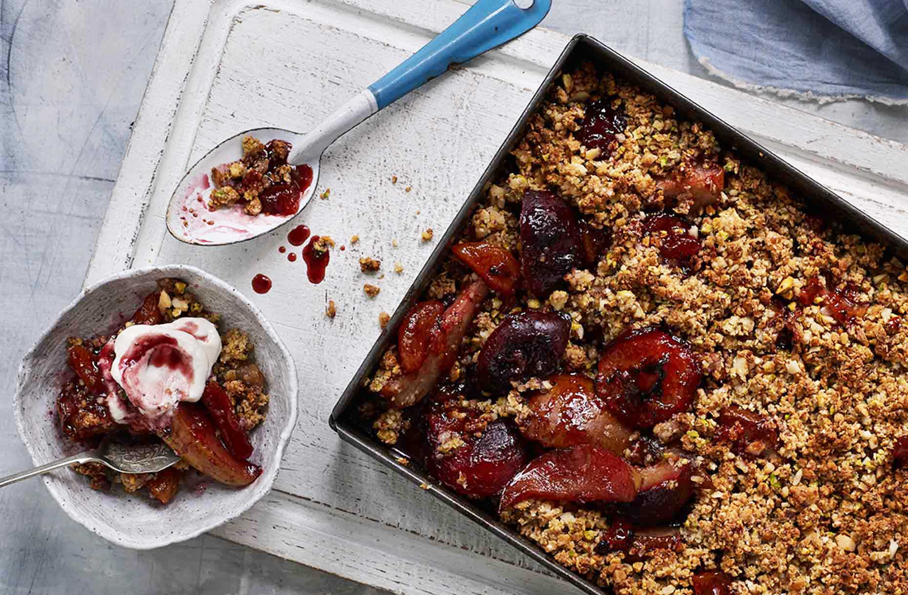 Jalna Recipe Plum Pear Crumble